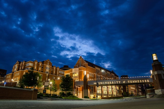 University of Tennessee at night