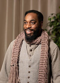 Brown in character outfit for 2020 A Christmas Carol.