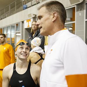 Erika Brown and coach Matt Kredich