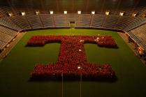 The first year students took a class photo in the shape of a Power T inside Neyland Stadium.