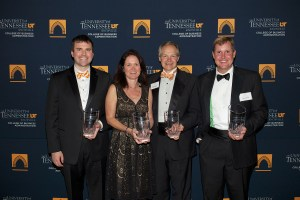 From left, Robert Ford; Amy Miles; Alan Wilson, chairman, president and CEO of McCormick; and Dane Scism