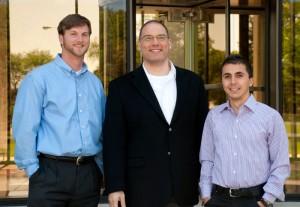 Timothy Barber, Professor Joe Majdalani, and Charles Haddad