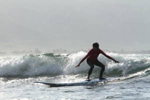 Wang surfing
