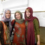 Chelsea Ennis, in the middle, is studying in India this summer.