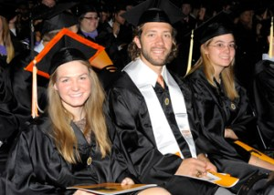 Graduates at UT's Fall 2012 commencement ceremony