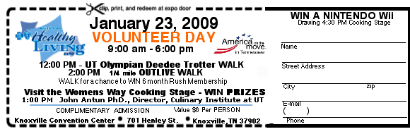 Health Living Expo Volunteer Day Ticket