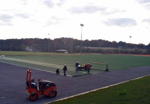 Workers are finishing the UT RecSports Fields on Sutherland Avenue in Knoxville. The facility is set to open in early 2013.