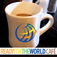 Ready for the World cafe logo