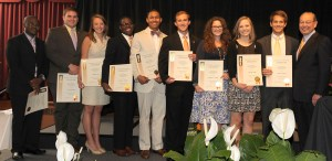 UT students receive Torchbearer awards at the 2012 Chancellor's Honors Awards