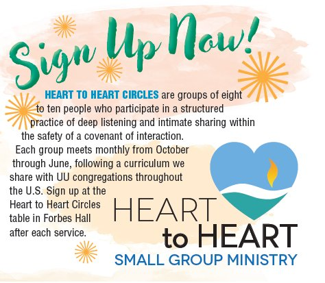 Heart to Heart – Sign up now!
