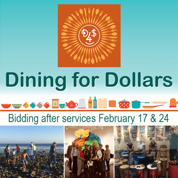 Dining for Dollars bidding