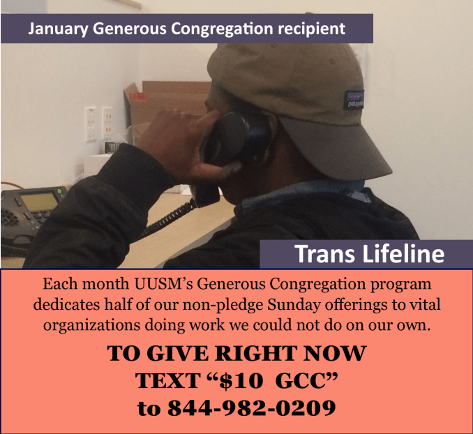 Generous Congregation recip Trans Lifeline
