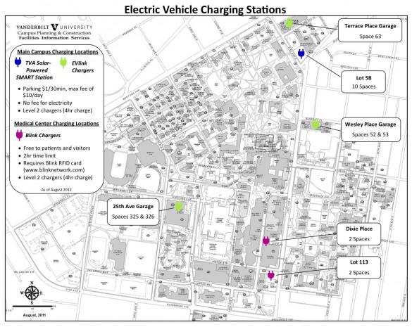 Vanderbilt doubles on-campus electric vehicle charging