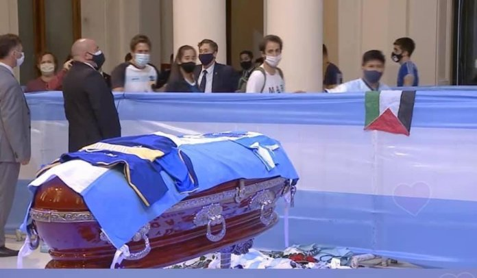 Three funeral workers fired after taking selfies beside Maradona's open coffin