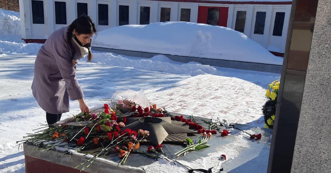 жители маркса не побоялись морозов - 23 февраля - новости маркса - митинг