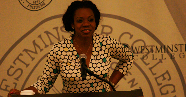 Social Activist Beverly Gooden delivered a speech about domestic violence.