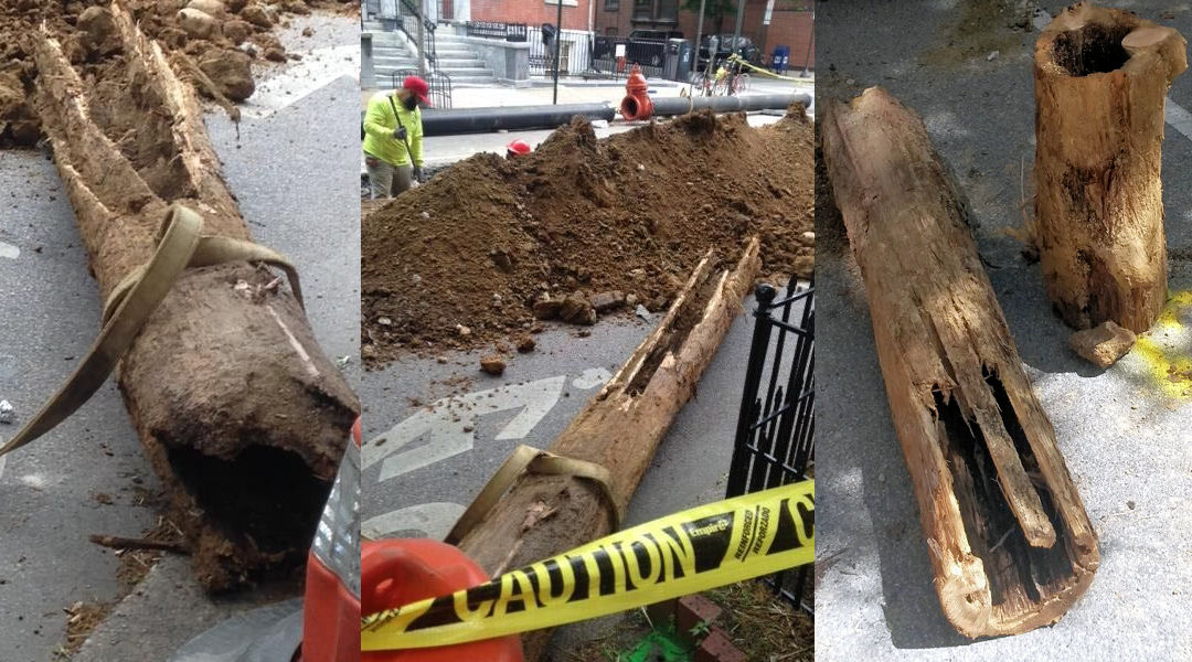Click the video player above for sky 4 video of the water main break.the break happened at. Found In Philadelphia 200 Year Old Wooden Water Mains Wef Highlights