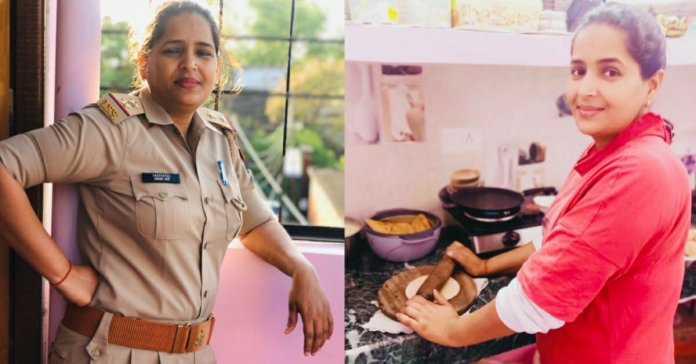 A Female Police Cop from a small town of UP become Twitter sensation