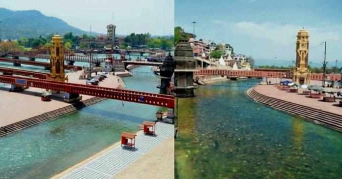 Ganga Water becomes more cleaner in Haridwar and Rishikesh amid lockdown