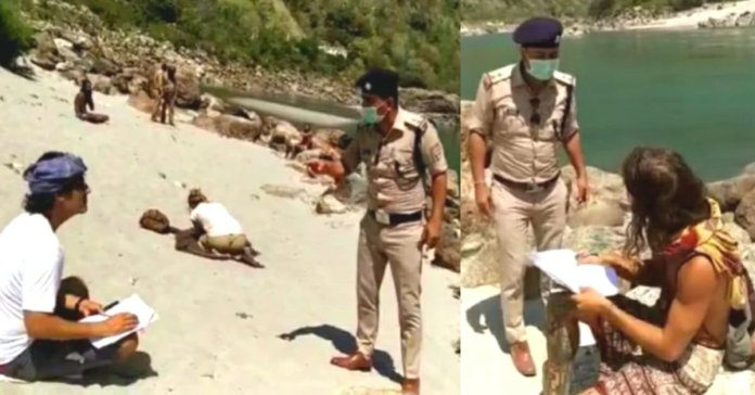 Uttarakhand police punish foreigners and ask to write i am sorry 500 times in rishikesh