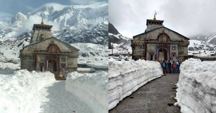 Kedarnath Dham snow trek route is finally ready, see picture