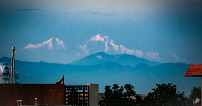Himalayan snow capped peaks sees from Saharanpur