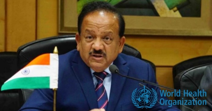 Health Minister harsh Vardhan will take charge as WHO executive board Chairmen