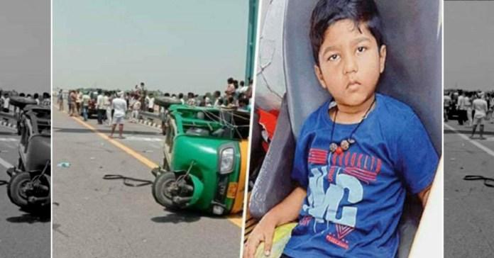 6 YO kids parents died in Road Accident on Agra expressway near Unnao Uttar Pradesh