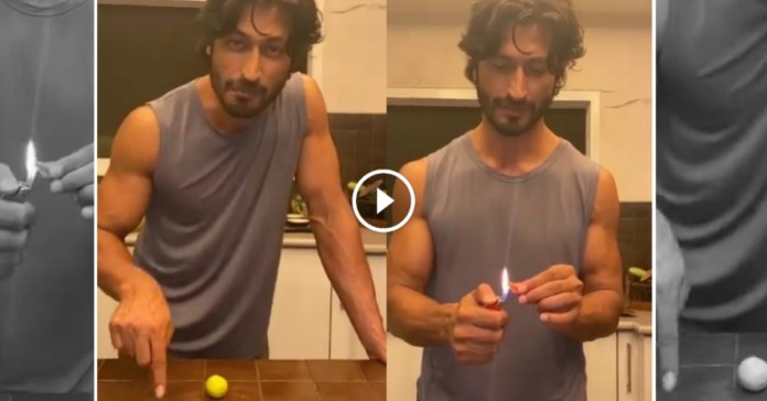 Bollywood actor 'Vidyut Jamwal' shared his video