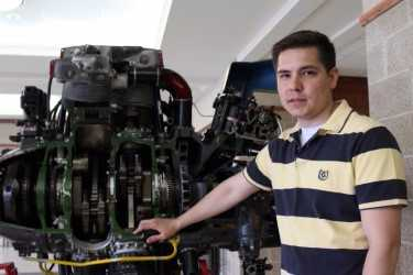 Aaron Waubanascum, who participated in the pre-engineering program at the College of Menominee Nation, is currently a UW–Madison undergraduate majoring in mechanical engineering.