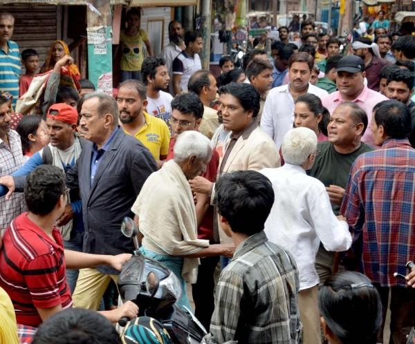 Shooting of television serial CID underway in Mathura on July 20, 2015. (Photo: Pawan Sharma/IANS)