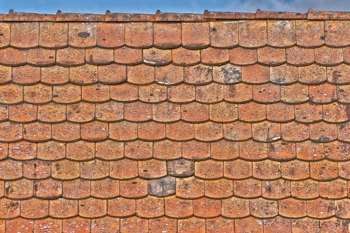 Old Roof Tiles Building House