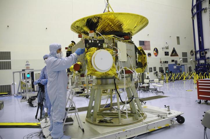 Construction of New Horizons. (Courtesy NASA Kennedy)