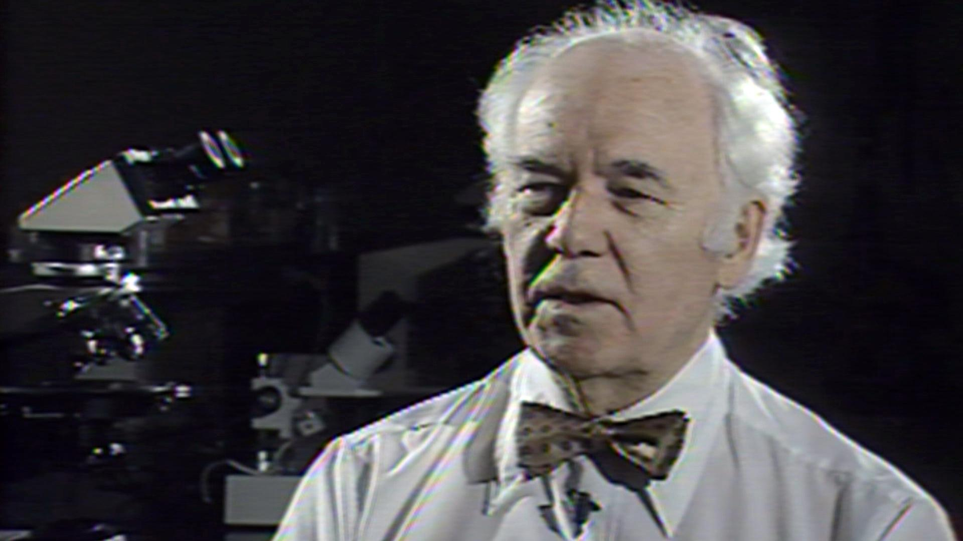 """Walter McCrone appears on WTTW's """"The New Explorers"""" in 1990. (WTTW News)"""