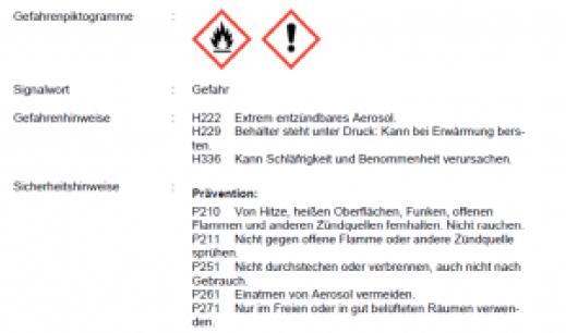 Das Sicherheitsdatenblatt - Gefahrenpiktogramme