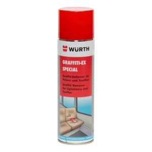 Auch Textilien können von Sprayern besprüht werden. Diese werden mit Würth Graffiti ex rasch entfernt