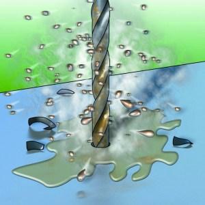 Bohr- und Schneidöl sind als Emulsion oder in Schaumform erhältlich
