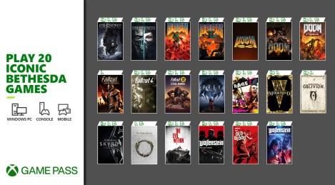 Xbox Game Pass: Spiele ab morgen diese 20 Titel der größten Bethesda-Franchises inline