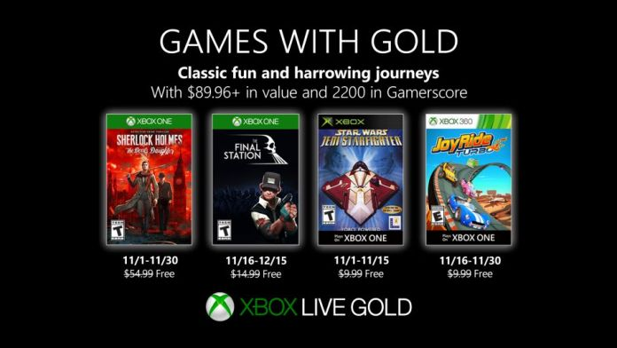 Games with Gold - November 2019