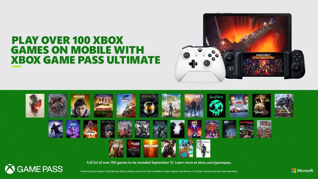 Podrás jugar más de 100 juegos en Project xCloud a través de Xbox Game Pass Ultimate