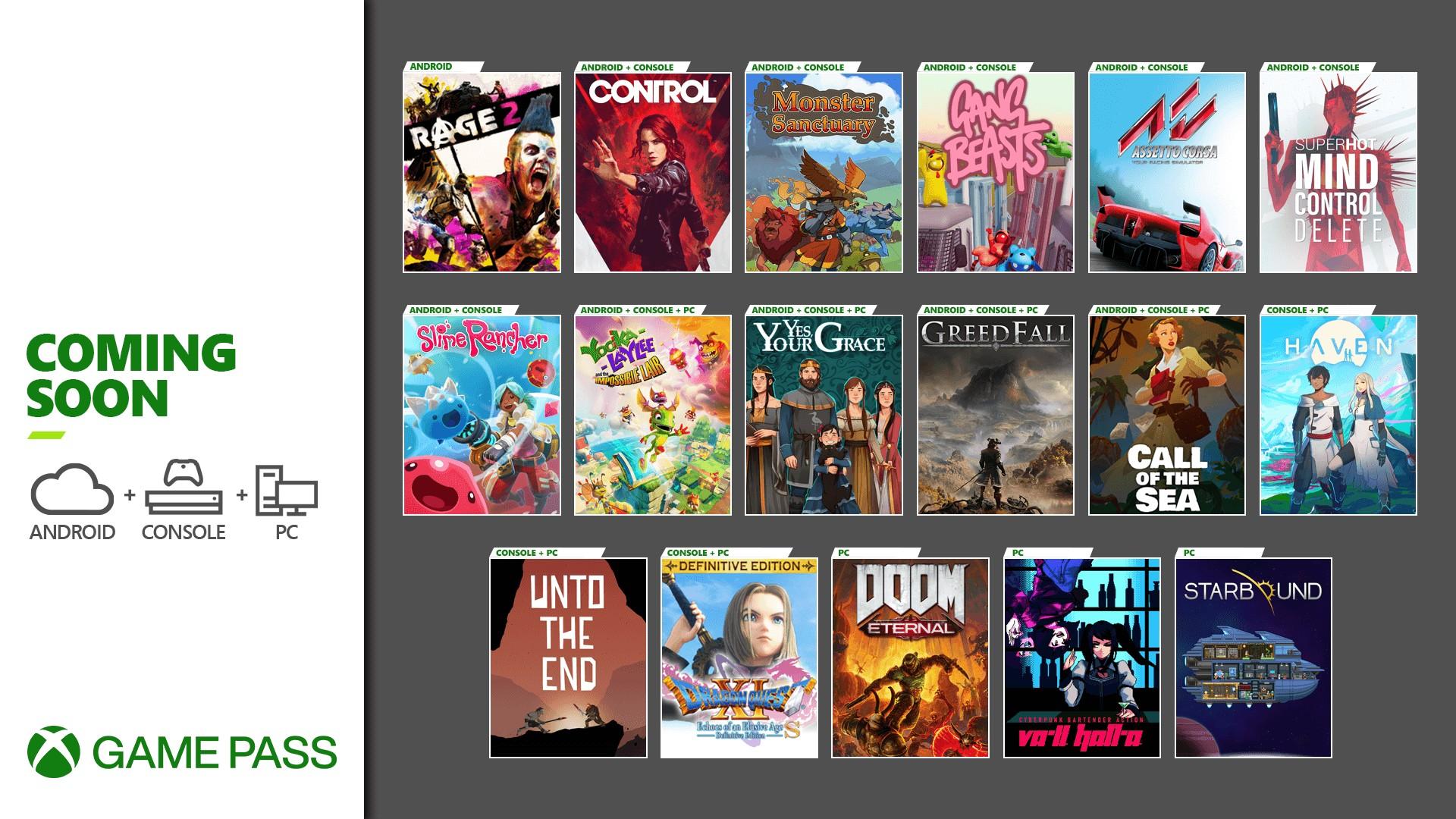 Xbox Game Pass Update - December 2020