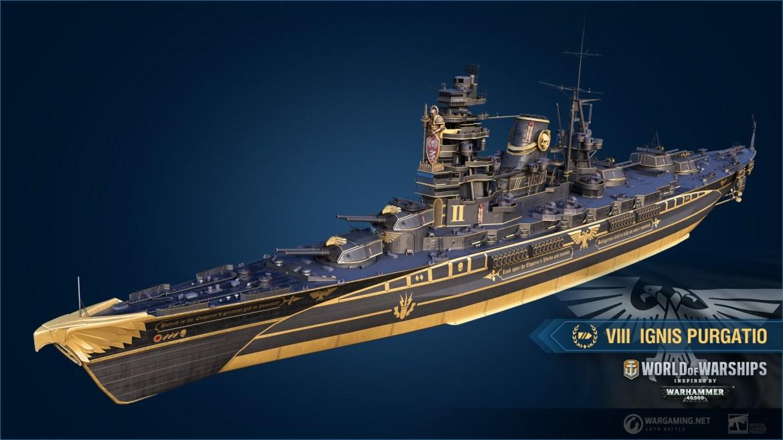 World of Warships - 40k Chaos & Imperium Ship Skins