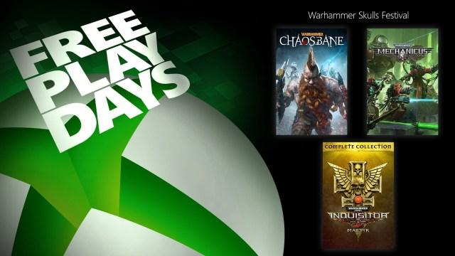 Free Play Days – Warhammer 40K: Inquisitor – Martyr, Warhammer: Chaosbane, and Warhammer 40K: Mechanicus 2