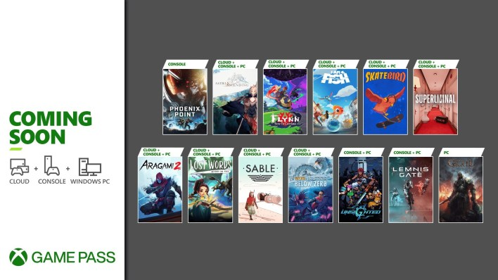 Xbox Game Pass - Coming Soon - September 2021