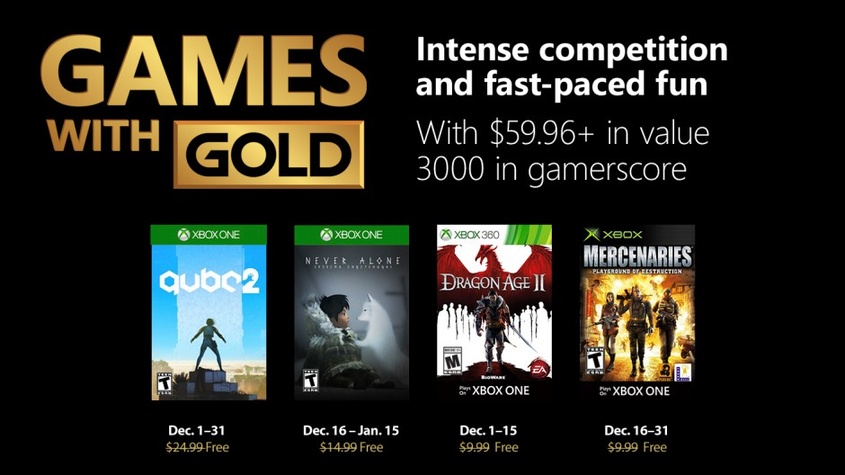 New Games With Gold For December 2018 Xbox Wire