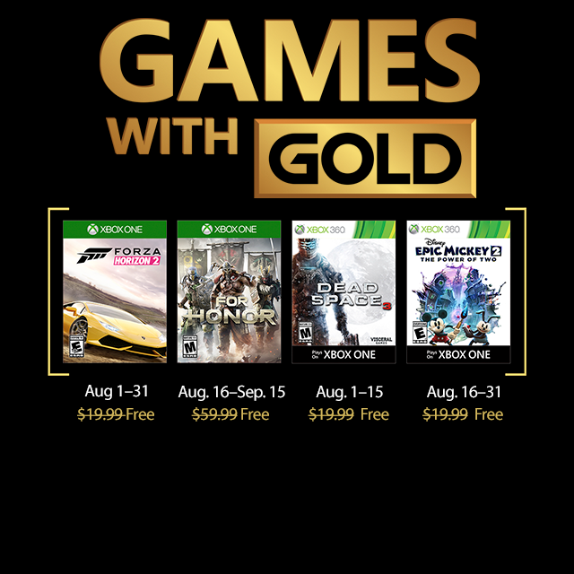 New Games With Gold For August 2018 Xbox Wire