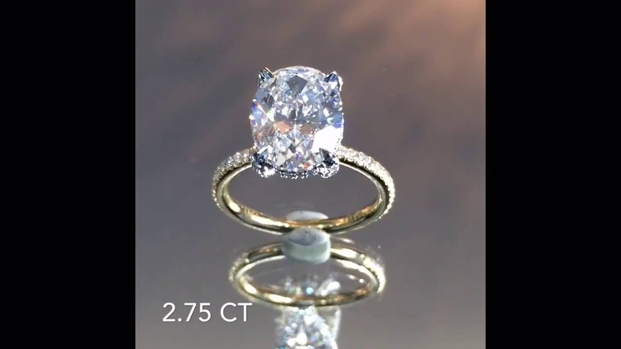 275 Ct Oval Diamond Engagement Ring