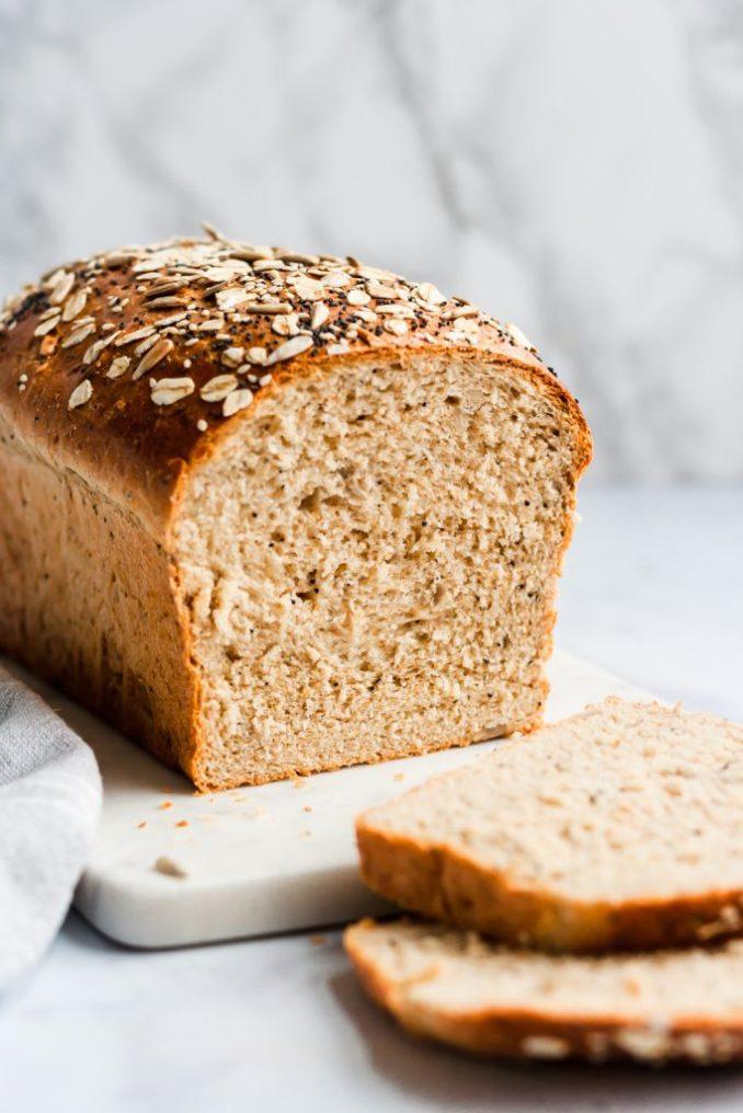 Best Healthy Soft Seedy Sandwich Bread | Yummy Everyday