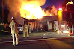 A 2-alarm blaze kills a Walnut Creek man Friday.