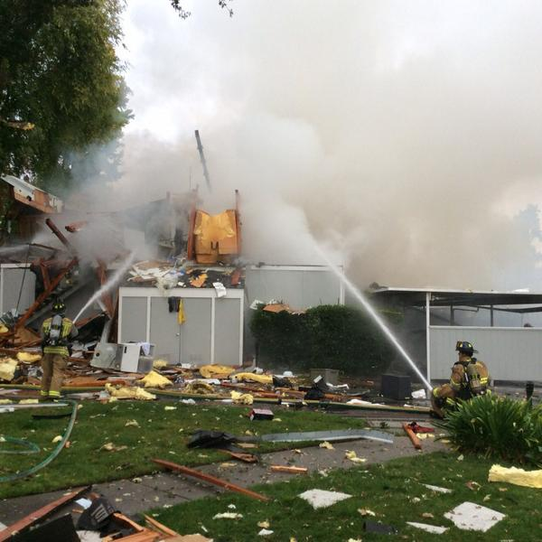 Explosion, fire injures two. One missing.